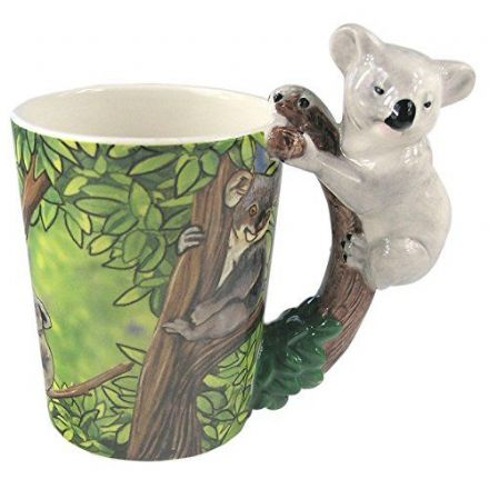 Koala Shaped Handle Mug with Safari Decal